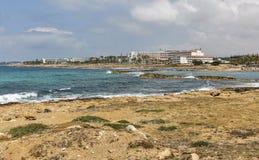Paphos summer resort seascape, Cyprus Stock Images