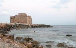 Paphoskasteel, Cyprus Stock Afbeeldingen
