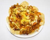 Papi chat of kolkata street food royalty free stock images