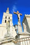 Papi Palace a Avignone, Francia fotografie stock