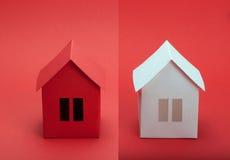 Papierów domy Obraz Royalty Free