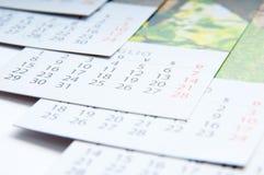 Papierów kalendarze Fotografia Royalty Free