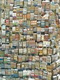 Papierów modele domy fotografia royalty free