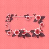 Papierów rżnięci dekoracyjni kwiaty Fotografia Royalty Free