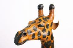 papier逗人喜爱的长颈鹿题头的mache 免版税库存图片