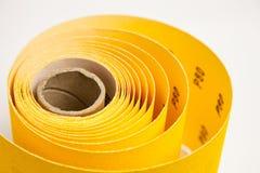 Papier à l'émeri jaune Photographie stock libre de droits