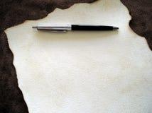 papier 1 długopis Zdjęcie Royalty Free