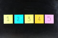 Papier 1234 Lizenzfreie Stockbilder