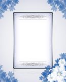 Papier. White note paper with flower border and bowcardclip-art Royalty Free Illustration