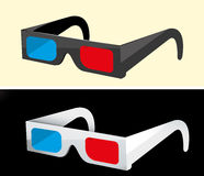 Papier 3D-glasses. Stockbilder