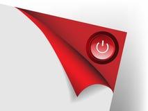 Papier abstrait avec le bouton Images stock
