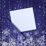 Papier angebracht von einer Weihnachtsfahne. ENV 10 Stockbilder