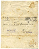 Papier antique, 1916 Photos stock
