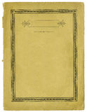 Papier antique avec le cadre décoratif et les bords déchirés Photographie stock