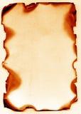 Papier antique brûlé Photographie stock libre de droits