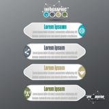 Papier-Art-Vektor 3D Infographic lizenzfreie stockbilder