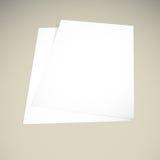 Papier auf einem beige Hintergrundspott oben lizenzfreie abbildung