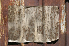 Papier auf einer grunge Wand Lizenzfreie Stockfotografie