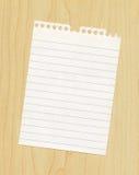 Papier auf Tabelle Stockfoto