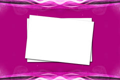 Papier auf Violet Pink Background Lizenzfreies Stockbild