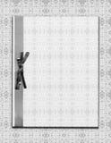Papier auf Weinlese-Spitze Stockfoto