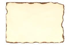 Papier avec des bords de brûlure Image libre de droits