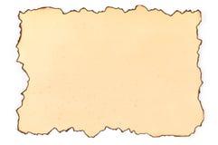 Papier avec des bords de brûlure Photos stock