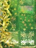 Papier avec des flocons de neige Photos stock