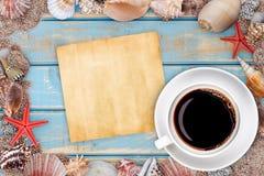Papier avec des seashells photos libres de droits