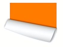 Papier avec l'enroulement Photos stock