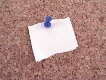 Papier avec la broche de poussée images libres de droits