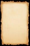 Papier avec le bord déchiré en lambeaux Photos stock