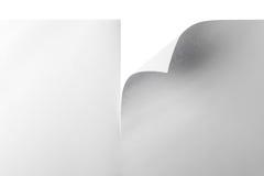 papier avec le coin courbé photos stock