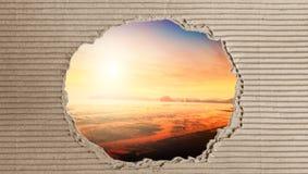 Papier avec le concept brouillé de fond couleurs et lumineux chauds Photographie stock libre de droits