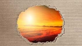 Papier avec le concept brouillé de fond couleurs et lumineux chauds Photographie stock