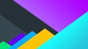 Papier avec le fond coloré, idée pour la bannière Compositions abstraites volumétriques et horizontales avec les feuilles de papi Photographie stock