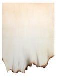 Papier avec les bords brûlés photographie stock