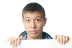 papier biały chłopiec Zdjęcie Royalty Free