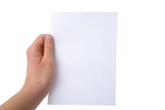Papier blanc avec des chemins de découpage Photographie stock