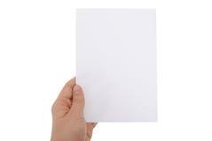 Papier blanc avec des chemins de découpage Images stock