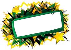 Papier blanc de bande dessinée à bord sur le fond de bande dessinée illustration de vecteur