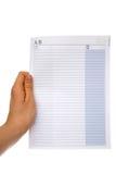 Papier blanc de contakt Photographie stock libre de droits