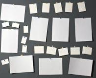 Papier blanc de photo Photographie stock