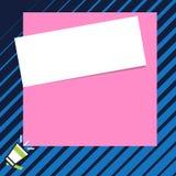 Papier blanc blanc sur le dessus des contextes en pastel et audacieux de couleurs Photo de dict?e donn?e par le professeur aux ?t illustration stock