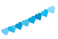 Papier bleu de coeur Photographie stock libre de droits