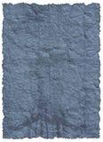 Papier bleu de cru vieux Images stock