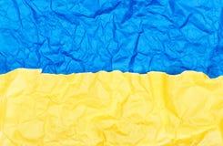 Papier bleu et jaune photo stock