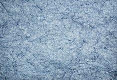 Papier bleu froissé Photo stock