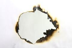 Papier brûlé Photos stock