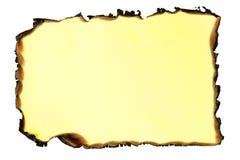 Papier brûlé. Images stock